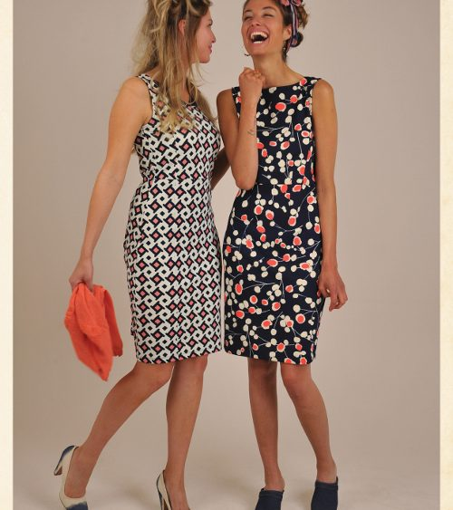 King Louie S16 Lookbook08 Audrey dress slvl Shake, Cardi v Amelie & Bardot dress slvl Lollipop, Foulard