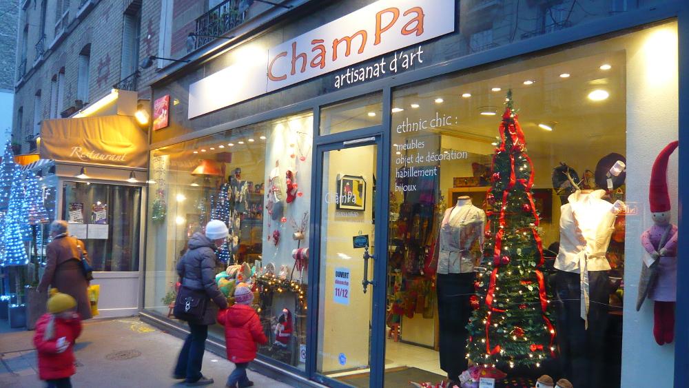 Champa Paris - Plan d'accès - Noël chez Champa, 52, av Félix Faure - 75015 PARIS - FRANCE - Tél: +33 1 45 57 25 97 - Métro: Boucicaut, ligne N°8 Balard-Créteil - Bus 62, station Félix Faure.