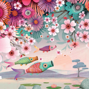 Anatopik Carpe Koi - motif printemps été 2015