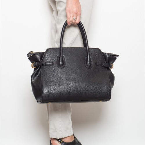 accessoires de mode - sac cuir noir Indi & cold