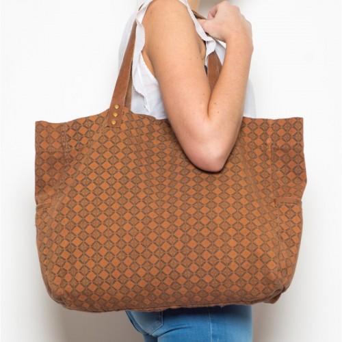 Accessoires de mode - sac coton brun Indi & Cold